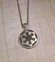 Sterling Silver Imperial Logo Pendant by Utinni
