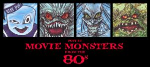 Post It MOVIE MONSTERS of the EIGHTIES by QuinteroART