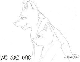 We are One -Uncolored- by AdiaAkitaInu