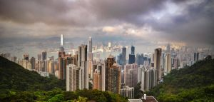 cloudy HK by hokusfokusart