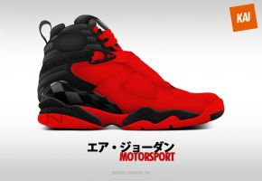 Air Jordan 8 Premium 'Motorsport' by BBoyKai91