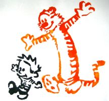 Calvin and Hobbes by Emmaloo