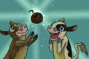 Coconut Crazy Cows by AwesomePonyTail