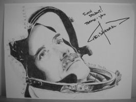 Chris Hadfield Signed :D by luffywow