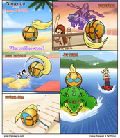 Samus: Beach Volleyball by combustibear
