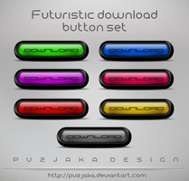 Futuristic download buttons by Puzjaka