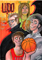 Space Draculas Basketball Expo by MissMooButt