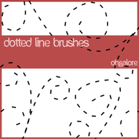 Dotted Line Brushes by ohgalore