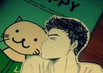 He kissed a cat and he liked it! by Vespa-kid