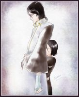 Byakuya and Rukia by S0nako