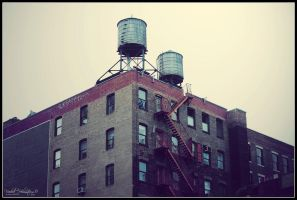 New York water towers by The-proffesional