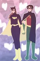 BatGirl and Robin by DemonJewl