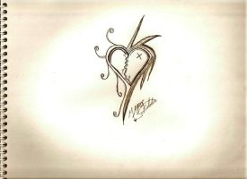 Tattoo design Heart. by Velvet64