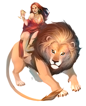 Lion and His Rider by kathrynlayno