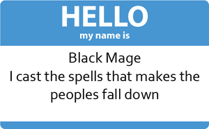 I am the Black Mage by FallenAngelAerith