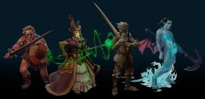 NPCs commissioned for dungeon crawler game by zelldweller