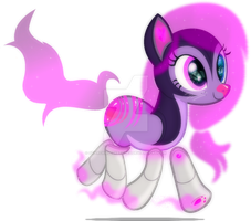 . : a cute neon droid kitty pony : . by StarChaseSketches