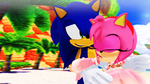 Sonic and Amy Rose Seaside Hill (First Time). MMD by 9029561