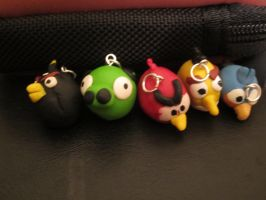 Angry Birds Charms by colbyjackchz