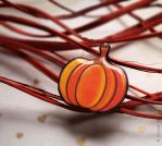 Autumn brooch - Pumpkin by Somnambula-Kosh