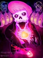 Spooky Pink Haired Skeleton by Ryxor