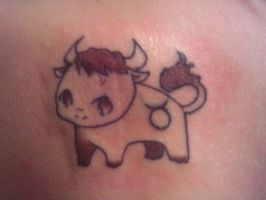 Taurus tattoo by Whitewiccan