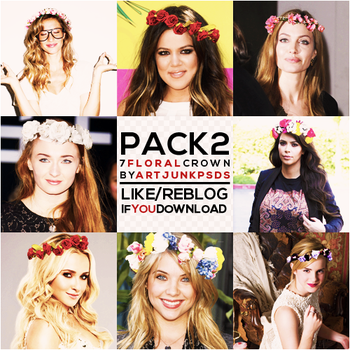 Second Pack - Floral Crown by art-psds-junk