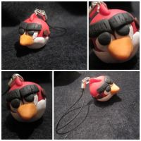 Red Angry Bird Charm by Martafav