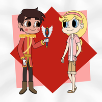 Prince Marco and Stella in the role reversal by Deaf-Machbot
