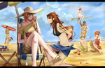 A day at the beach by dishwasher1910