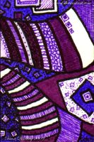 Purple Yurple  ATC 24 by Quaddles-Roost