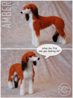 Needle felted saluki by Cemina