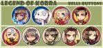 Legend of Korra Buttons by jinyjin