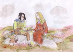 Mablung and Nienor by Gwenniel