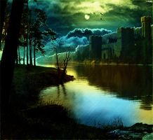 Matte painting - Dramatic lake by Luks85