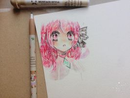 pink girl by Mii17noah