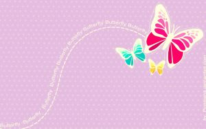 Wallpaper: Butterfly by pinksighs
