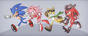 - Sonic Team - 5years later by Shira-hedgie
