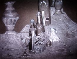 Bottle Still Life by thoraxe