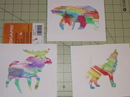 Watercolor Wildlife by passiononpaper