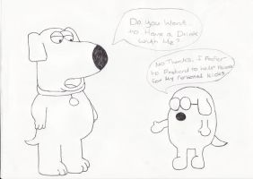 Brian Griffin and Dogbert 2 by AndWii