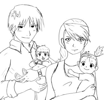 Family Photo WIP by Shamejob-Prente