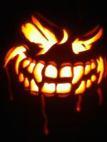 Jack-O-Lantern 2011 Lit Up by KAIJUfreak
