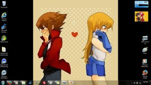 My Desktop-Fianceshipping,Judai and Asuka blushing by YukiAtem12