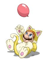 Cat Suit Mario by WheatleysOWN