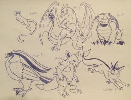 Pokemon Red team by Iron-Zing