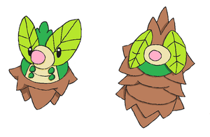Fakemon- Minogrub and Minocoon by Casey333