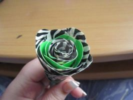 Lime and Zebra Rose by DarkestFae5190