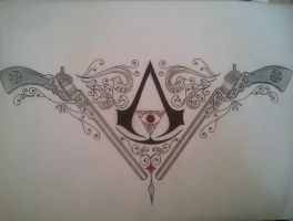 Assassin's Creed Supernatural tattoo design by BloodlessSnow