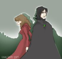 Snape and Granger by usagistu